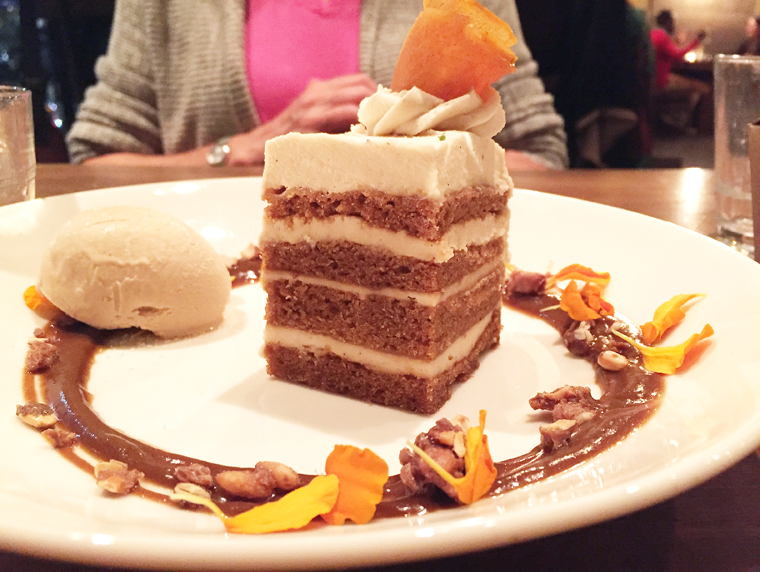 Pumpkin layer cake.