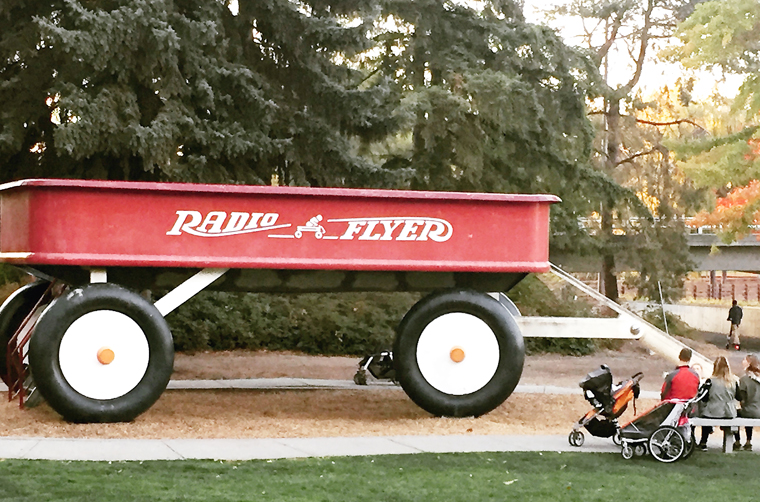 Not your average red wagon.