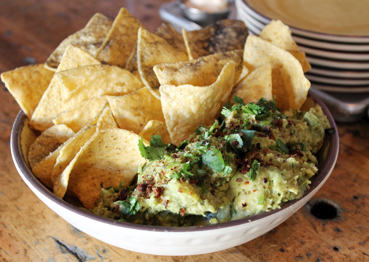 Guacamole and chips -- with a little something extra.