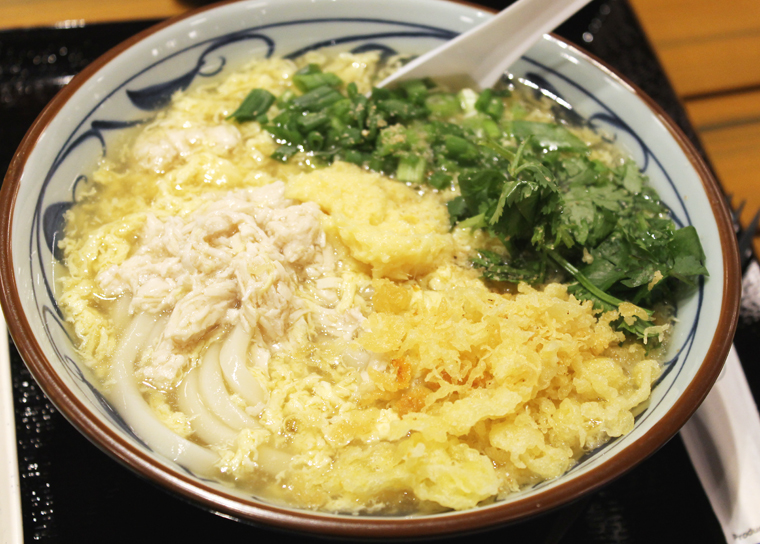 Udon in egg drop soup at Marugame Udon.