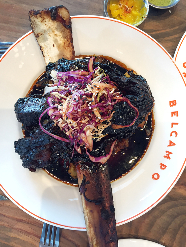 A short rib that you'll have to clear off the table to make room for at Belcampo.
