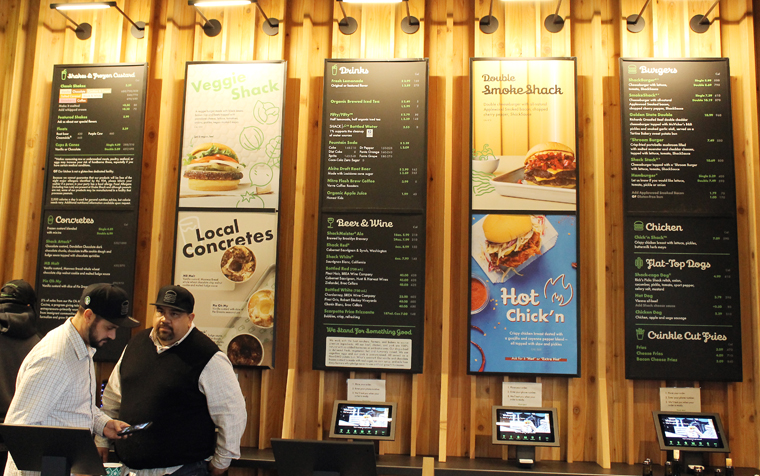 The menu boards.