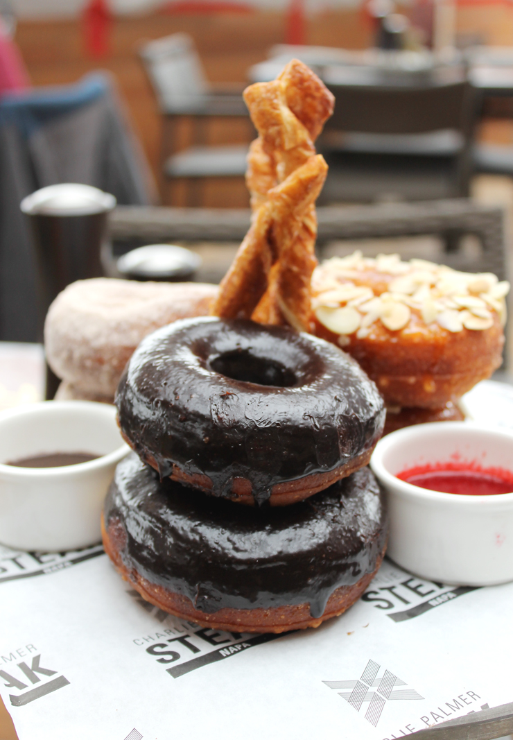 Doughnuts galore at Sunday brunch at the Archer Hotel.