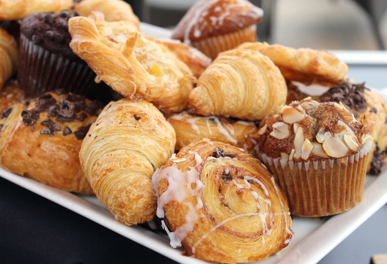 Assorted pastries.