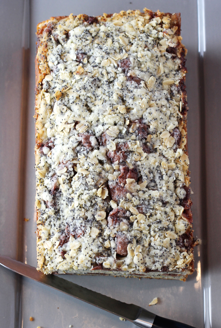 Tart cherries make this streusel-topped yogurt cake extra delightful.