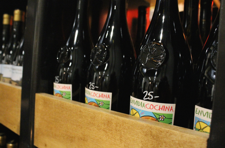 Shopping for wine is easy here, especially because the price is written on each bottle.