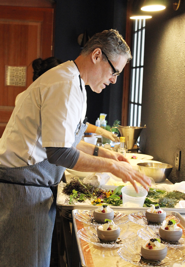 Executive Chef Todd Knoll prepping lunch.
