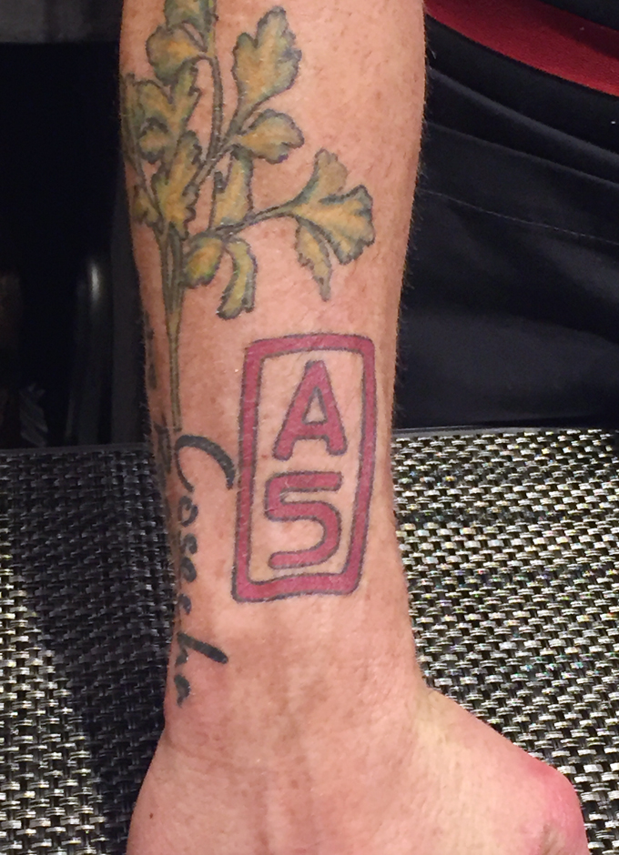 Executive Chef Steve Brown's tattoo says it all.