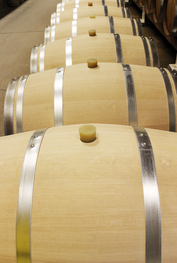 New French oak barrels.
