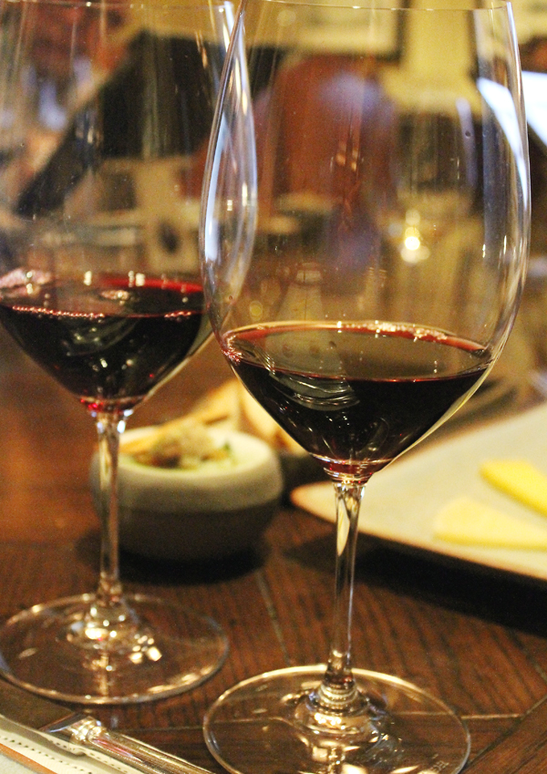 A tasting of Cabs.
