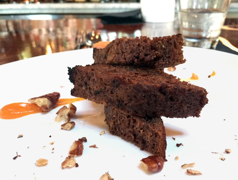 An atypical carrot cake.