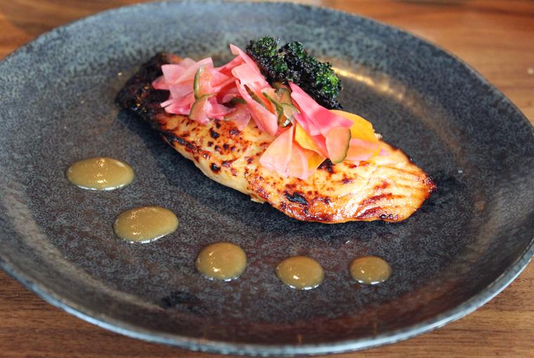 Miso-glazed salmon.