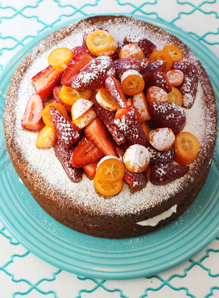 I added kumquats to the strawberries. You could also add or substitute just about any berry or even sliced peaches or nectarines.