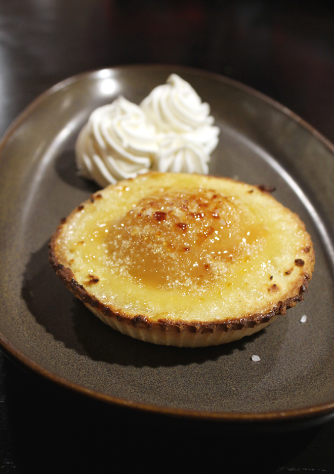 A warm, satisfying pear tart.