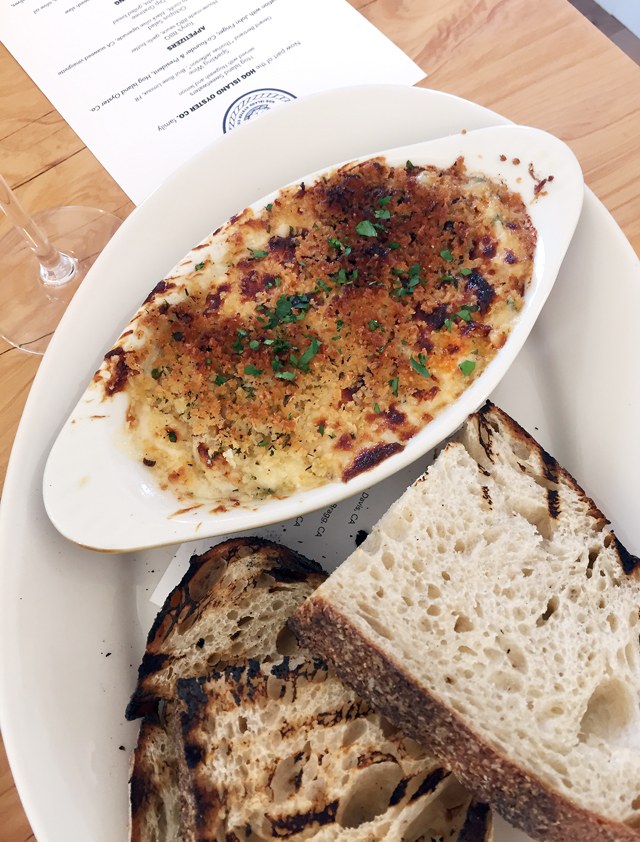 Crab dip with my favorite Della Fattoria bread.
