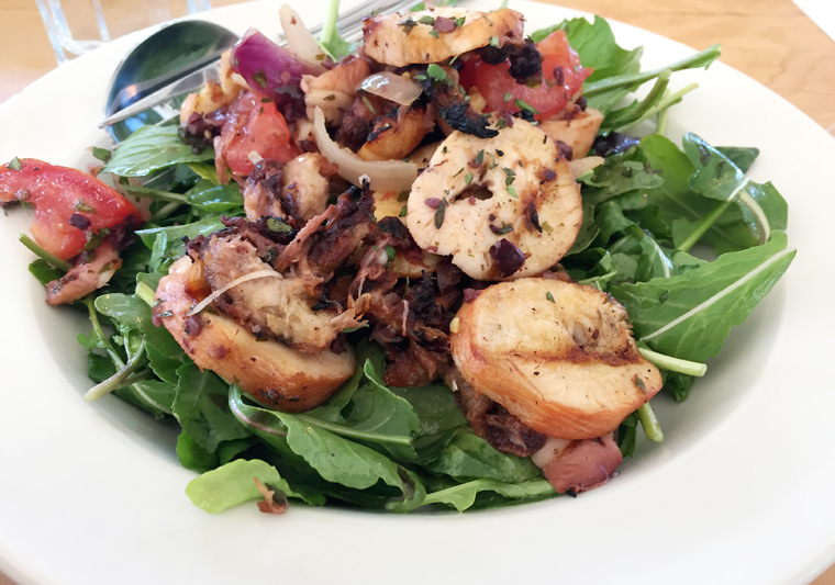 A meaty octopus salad.