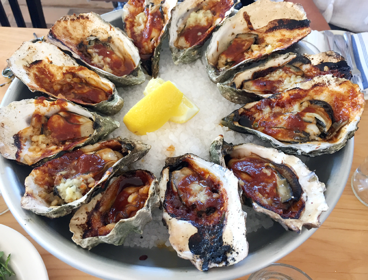 The barbecued oysters are not to be missed.