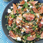 Fig Walnut Freekeh Salad Overhead