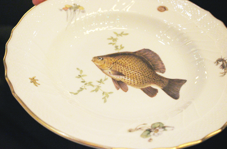 One of several fish plates from Italy, with each decorated with a different species.
