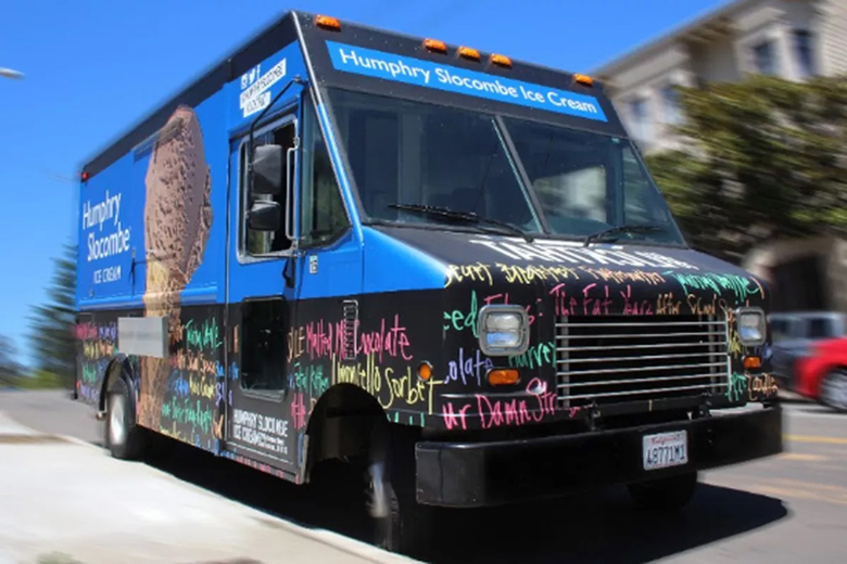 Betty the Truck will be doling out free scoops this Wednesday in Cupertino. (photo courtesy of Humphry Slocombe)