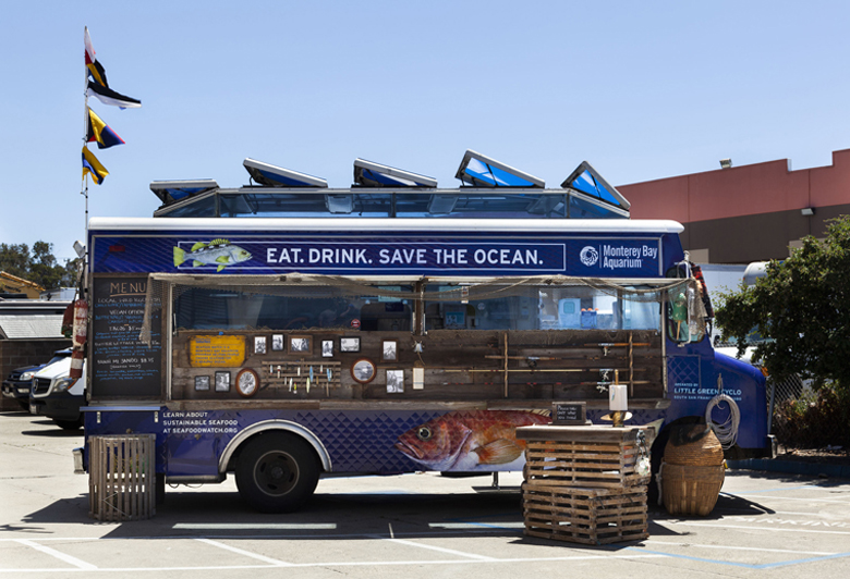 The Monterey Bay Aquarium rolls out its new Seafood Watch food truck. (photo courtesy of the Monterey Bay Aquarium)