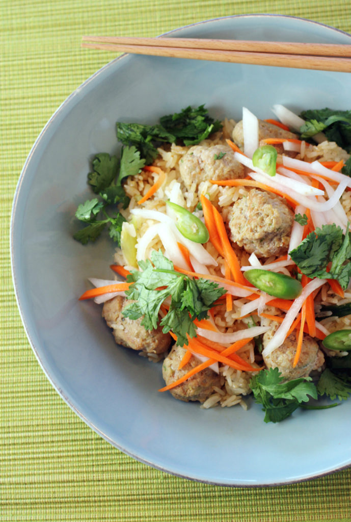 No bread needed -- banh mi fried rice.