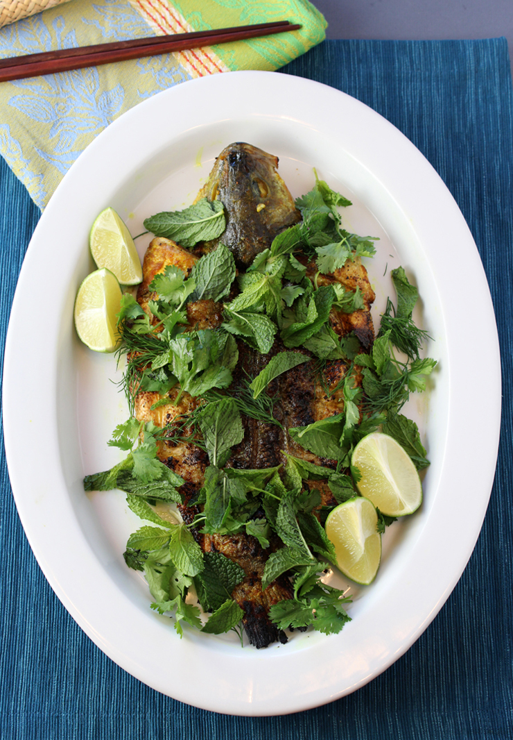 Take a taste of Cassia restaurant's turmeric grilled sea bass -- in the comfort of your own home.