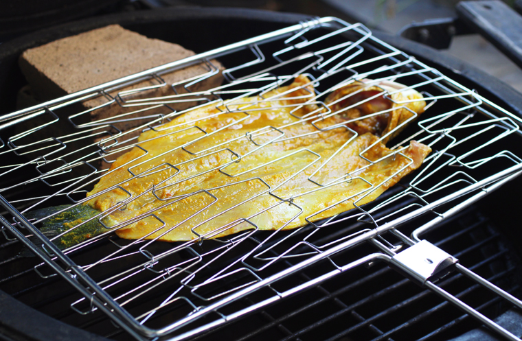 If you have one, a fish basket makes grilling a lot easier.