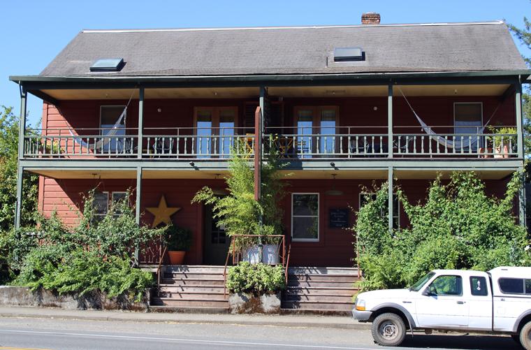 The circa-1860 hotel.