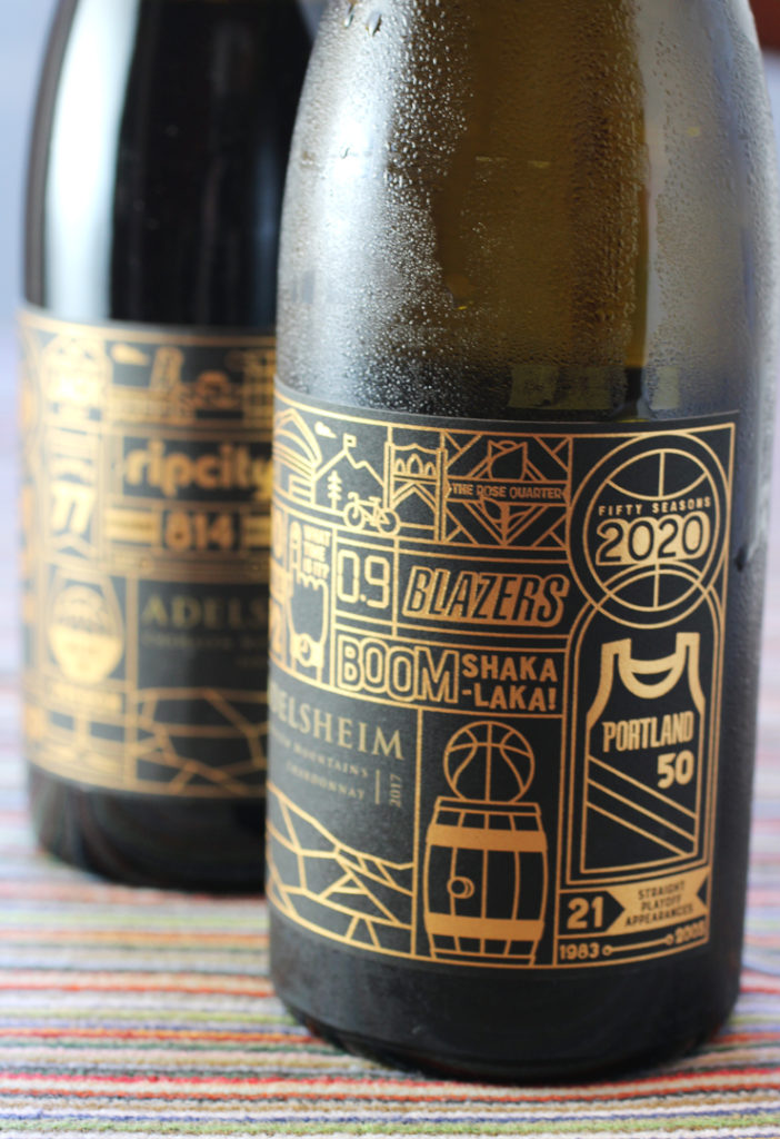 Some very cool labels on these two very cool wines by Adelsheim Vineyard.