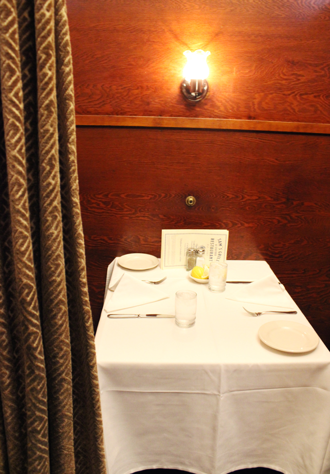 The very private booths.
