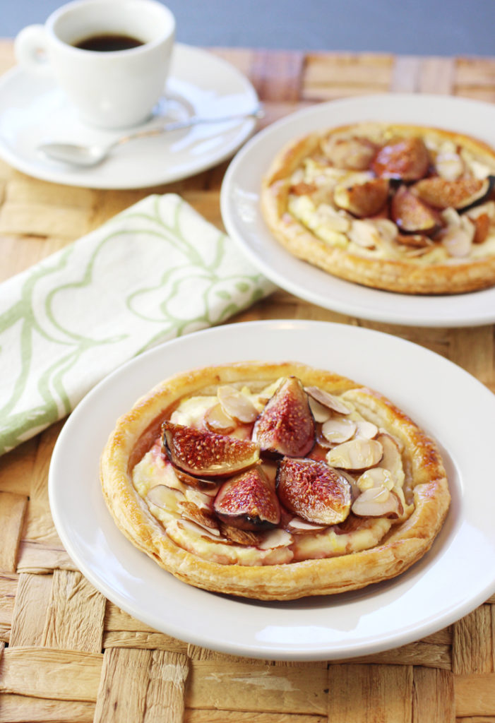 Flaky, golden pastries with a center of cheesecake, figs and almonds -- to enjoy for breakfast, afternoon snack, or dessert.