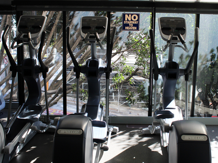 You have to love the sign by the Elliptical machines.