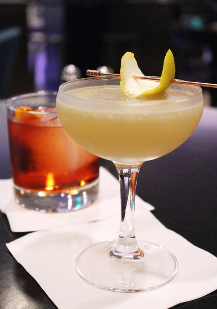 "Presenting the ""Maude,'' made with rooftop honey at the Stanford Court Hotel."