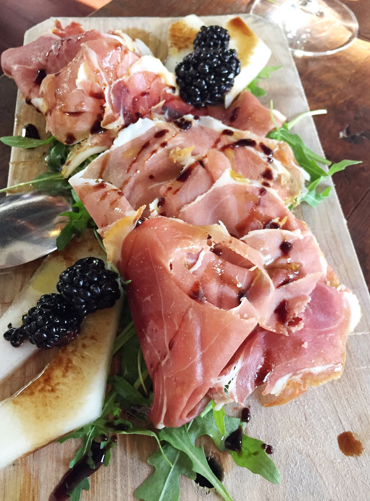 An especially meaty, sweet, tender tasting prosciutto at A16 Rockridge.