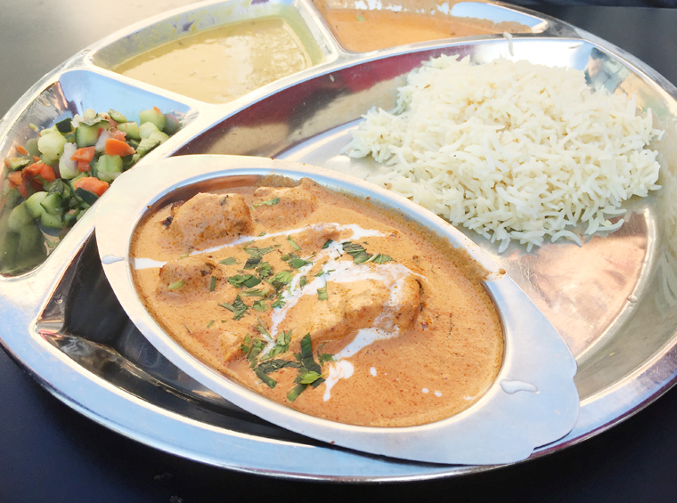 The chicken tikka masala -- good to the last bite.
