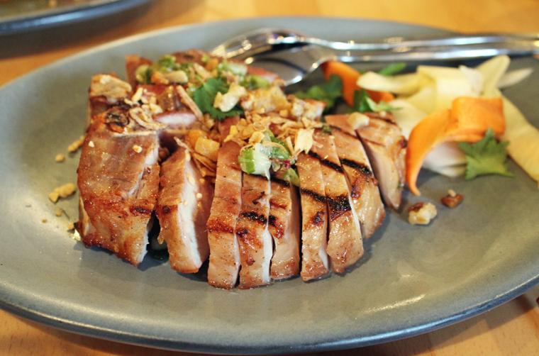 Porterhouse pork chop.