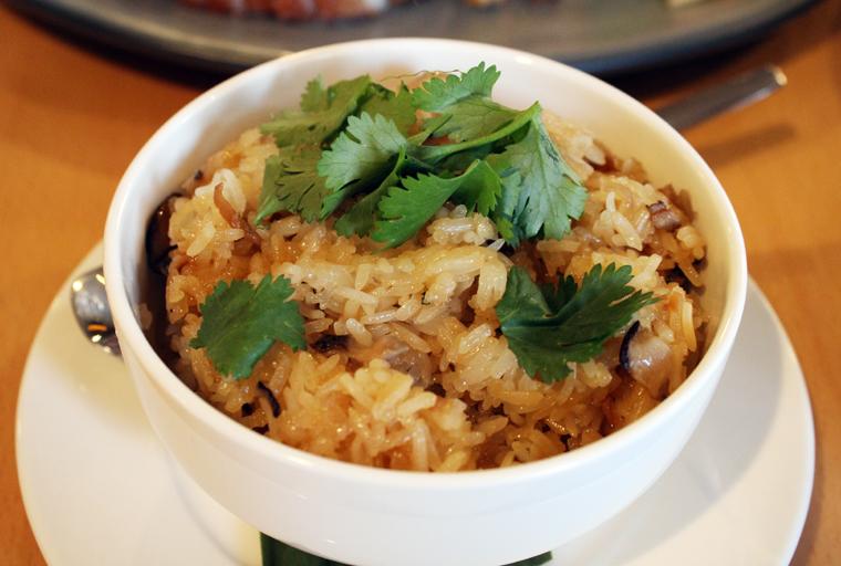 Loaded sticky rice.