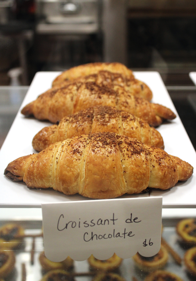 Chocolate croissants.