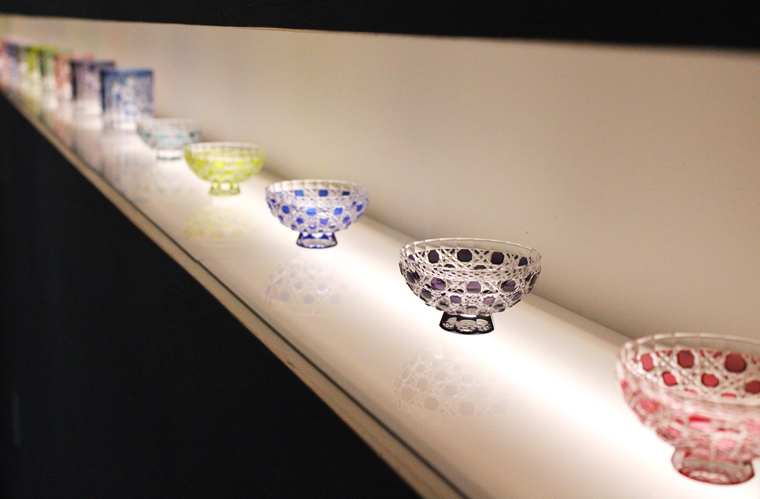 Hand-cut Japanese crystal known as Edokiriko.