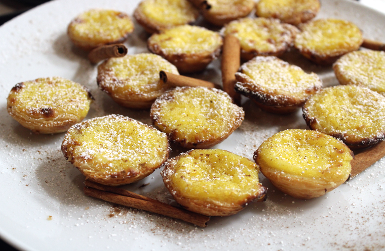 Mini custard tarts served at the preview party.