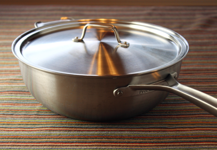 Heavy-duty pans with a modern, streamlined look.