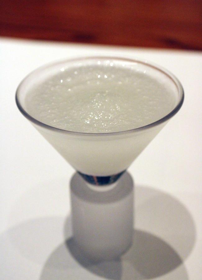 Frozen yuzu sake.