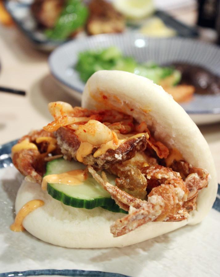 Soft shell crab bun.