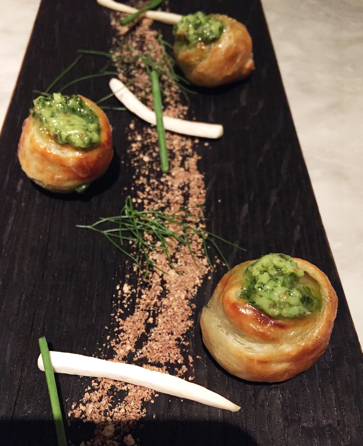 Escargot in puff pastry at Bardot Brasserie.