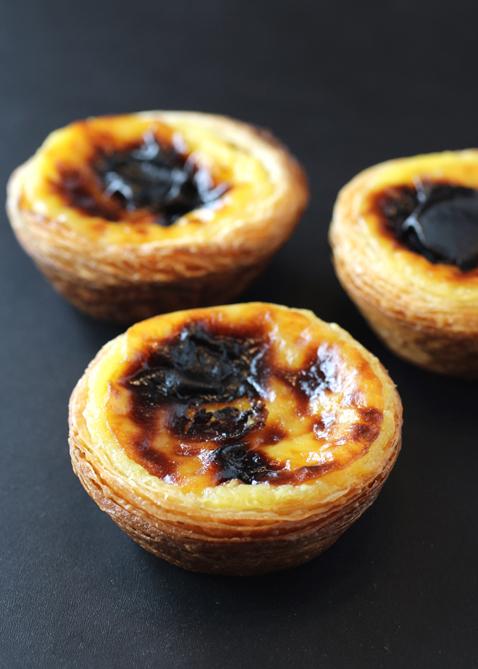 Portuguese custard tarts at Pastelaria Adega.