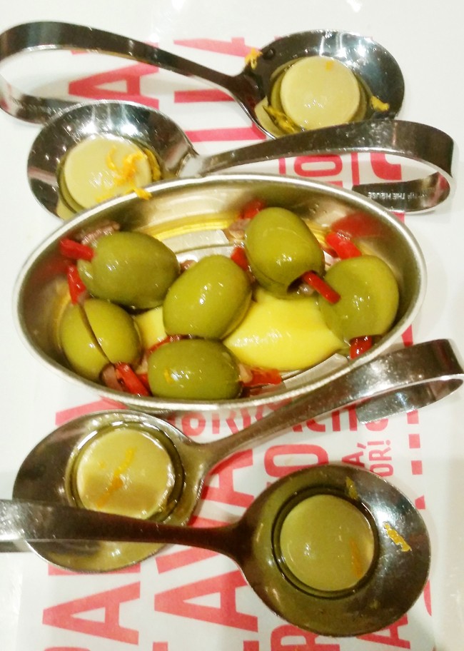 Can you tell which are the real olives and which are spherification creations?