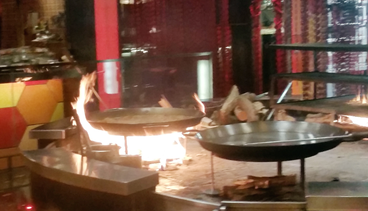 Pans at the ready at Jaleo.