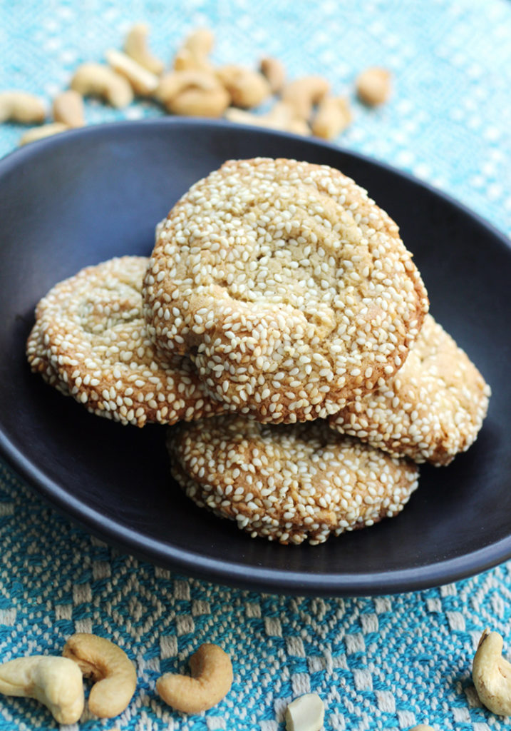 A wonderful mix of ingredients creates a powerhouse of nuttiness in these cookies.
