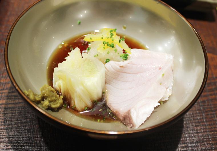 Yellowtail, shabu shabu-style.